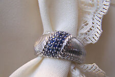 Judith Ripka Sterling Silver  Sapphires   925  Size 6  GORGEOUS & MINT!!