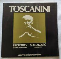 PROKOFIEV SOSTAKOVIC LP ARTURO TOSCANINI 33 GIRI VINYL ITALY 1980 NM/NM