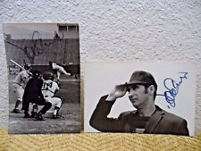 Vtg TEXAS RANGERS UMPIRE BASEBALL AUTOGRAPH UNKNOWN 1970's RARE SIGNED 2 PICTURE