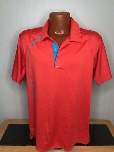 Men's Adidas PureMotion Golf S/S Polo/Golf Shirt Size Medium (M) Orange