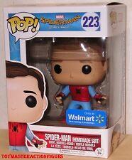 FUNKO POP Marvel SPIDERMAN HOMECOMING UNMASKED SPIDERMAN #223 WALMART In Stock