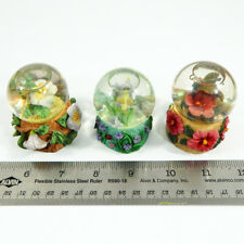Hummingbird Miniature Glitter Snowdome Water Globe Set of 3 Carlton Cards