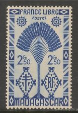 Madagascar (French) #250 (A16) VF MINT LH - 1943 2.50fr Traveler's Tree