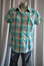 The Nord Face Damen  Bluse Hemd Gr. L42 Emerald kariert kurzarm TOP *B469