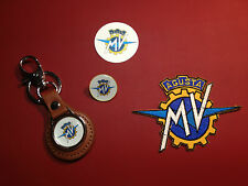 MV Agusta Motorcycles  Set: Real Leather Key Ring / Badge /  sticker / patch