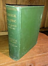 RARE Surgical Technic Operative Esmarch 1901 FIRST EDITION Antique Medical Book