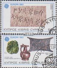 Chipre 582-583 (edición completa) usado 1983 grandes obras