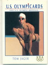 U.S. OLYMPICARDS - 1992 - SWIMMING - INSERT TRADING CARD - TOM JAGER