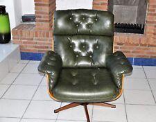 Vintage Lounge Chair Eames Ära   Design Club Sessel Vitra Grün Leder   60er  70er