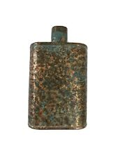 Genuine Jacob Bromwell Legacy Flask 9 oz Pure Copper Hand Made in Usa *Weathered