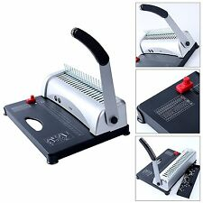 Pro Paper Office Comb Binding Machine 21 Hole A4 Plastic Coil Punch Binder