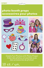 MAD HATTER TEA PARTY PHOTO PROP SET (10pc) ~ Birthday Supplies Favors Activity