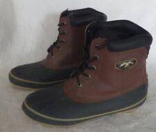 Mens Leather Rubber Duck Commander Steel Shank Decoy Winter Snow Boots SZ 8