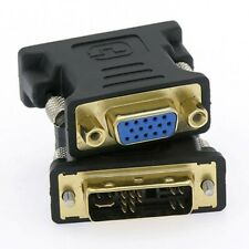 2 Pcs DVI-A 12+5 Male to VGA DB15HD Female Video Adapter Converter Gold Plated
