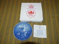Bing & Grondahl Mothers Day Plate 1973 Ducks Mors Dag Copenhagen Porcelain