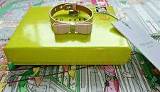 Ted Baker Pink Leather BOW BRACELET Rare Sample Design Genuine