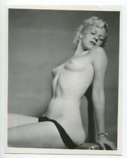 Enticing Female Smoking Hot Body Perky Breasts 1950 Original Nude Photo  B5965