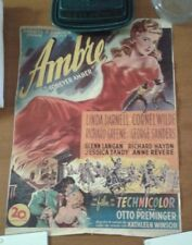 Forever Amber Original Belgian Release Bright Colors Trimmed Beautiful Scarce!