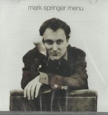 Mark Springer - Menu ( CD + Bonus CD 2013 ) NEW / SEALED