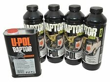 LAND ROVER Tough Protective Paint U-POL RAPTOR BLACK Finish large Kit - DA6382