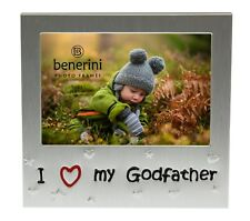 I Love My Godfather Photo Picture Frame Christening Birthday Christmas Gift Idea
