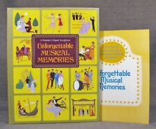 Unforgettable Musical Memories Song Book from Reader's Digest;1984;Pristine