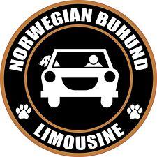 "Limousine Norwegian Buhund 5"" Dog Sticker"