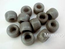 25 5 x 9 mm Czech Glass Roller/Crow Beads: Grey