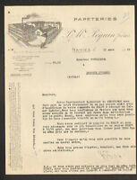 """NANTES (44) USINE de PAPETERIES """"P. & M. PEQUIN Freres"""" en 1929"""