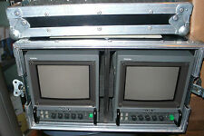 2 MONITEURS SONY 6 POUCES CRT SONY PVM-6041 QM + FLIGHT CASE