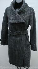 Aquascutum Grey & Black Adalia Wool Coat Sz 10
