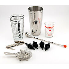 Pro Bartender Cocktail Mixing Set: 10-Piece - Bar Tools and Pub Accessories Kit