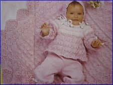 70+ Baby Knitting Patterns 3 4 & 8 Ply Christening Robe Peacock Design + MORE