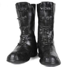 NEW OLD STOCK 1980s LA CROSSE MILITARY RUBBER 5 BUCKLE MID CALF OVER BOOTS