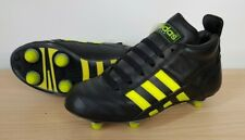 Adidas Colt Kids Junior Black & Yellow Leather Mid Rugby Boots, UK 13 EU 32
