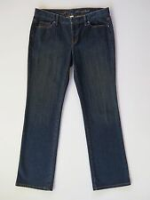 Ann Taylor Loft Original Boot Mid Rise Dark Blue Stretch Denim Jeans 10 X 32""