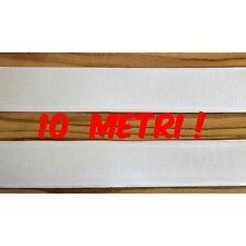 Lotto 10 METRI Velcro strappo adesivo da 2 cm completo maschio+femmina bianco