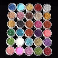 Women Make Up Eyeshadow Mixed Colors Eye Glitter Mineral Powder Pigment 30 pcs