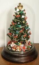 Vintage Miniature Christmas Tree Diorama Ornament. Bell Dome Glass Jar WESTRIM?