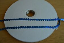 Blue Self Adhesive Sequins 10 metres from the reel