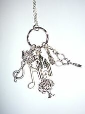RAPUNZEL - fairytale/panto charm necklace with Rapunzel theme