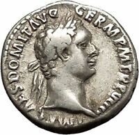 DOMITIAN son of Vespasian Silver Ancient Roman Coin Athena Minerva Cult i53343