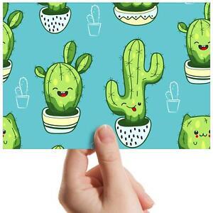 "Cactus Plants Cartoon Gardener Small Photograph 6""x4"" Art Print Photo Gift #8351"