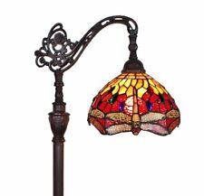 Tiffany Style Dragonfly Reading Floor Lamp Electric Light Stained Glass Shade