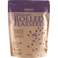 Melrose Organic Rolled Flaxseed 350g Plant Oils