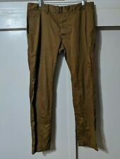 "Men's Diesel Chi Regular Slim Fit Golden Brown Chino Pants Size 33 tag 35""x31"""