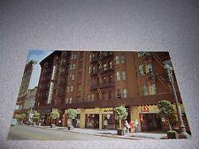 1960s STREET-VIEW & SHOPS HOTEL STEWART SAN FRANCISCO CA. VTG POSTCARD