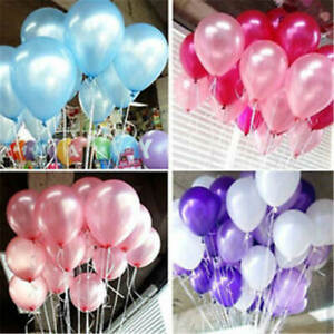 """200Pcs 10"""" Colorful Pearl Latex Balloon Celebration Party Wedding Prom Festival"""