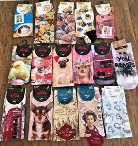 PRIMARK Ladies Girls Disney / Licensed PHOTO Socks UK 4 - 8  37-42 1 Pair 1 Pack