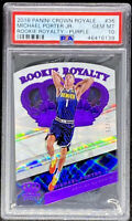 Michael Porter Jr RC 2018-19 Crown Royale Rookie Royalty Purple /25 PSA 10 POP 1